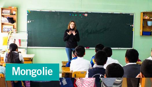 Portrait d'une volontaire partie en Mongolie