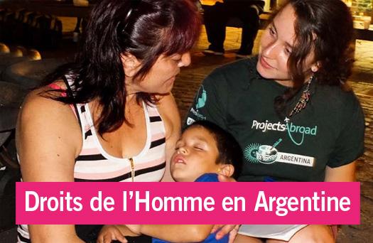 Portrait d'une volontaire en projet défense des droits de l'Homme en Argentine