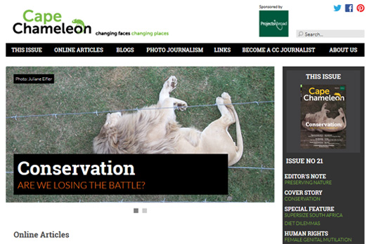 Journalisme: Nouvelle édition du Cape Chameleon en ligne