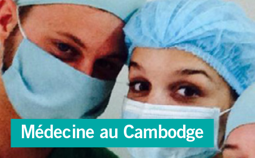Portrait d'une volontaire en stage médecine au Cambodge