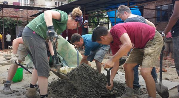 A la une: Les avancées du projet reconstruction au Népal