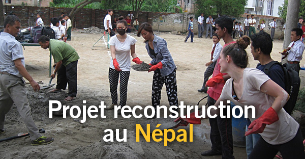 A la une: projet reconstruction au Népal