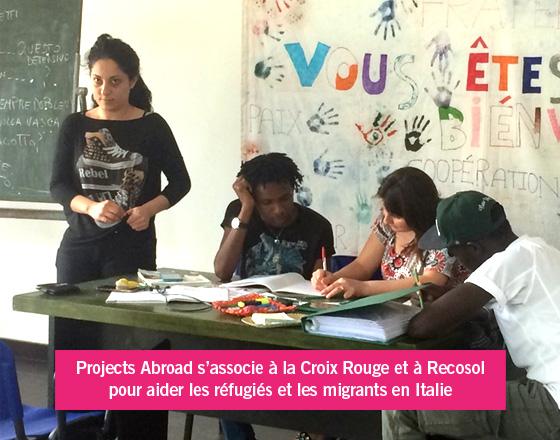 Projet réfugiés en Italie