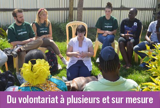 Missions de volontariat personnalisées en groupe