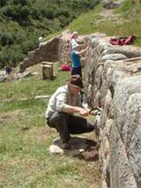 Chantier de fouilles archéologie au Pérou