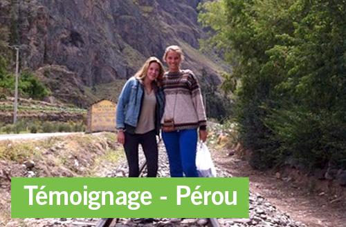 Témoignage d'une expérience au Pérou