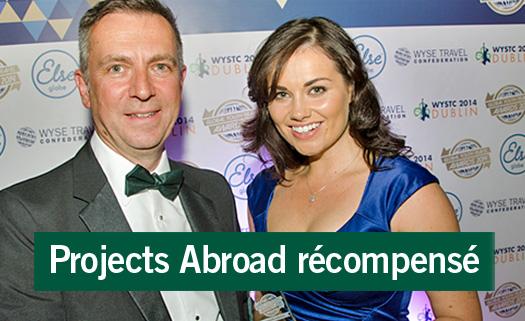 Projects Abroad récompensé au Global Youth Travel Awards 2014 à Dublin