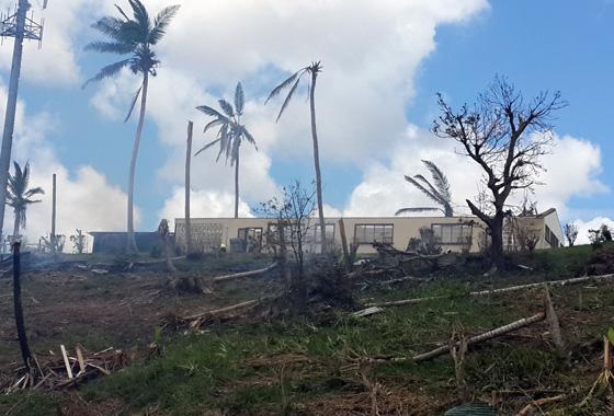 Reconstruction aux Fidji