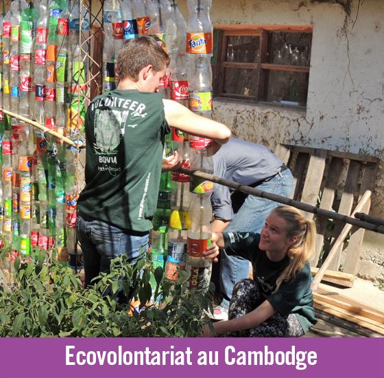 Eco-brick: construire un monde plus propre au Cambodge