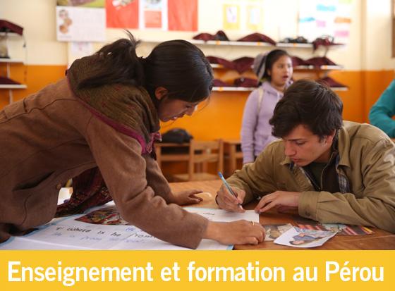 Nombre record d'enseignants en formation au Pérou