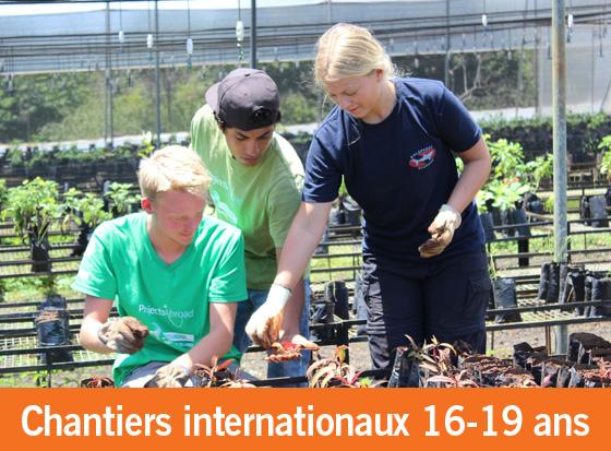 Rapport d'impact des chantiers internationaux pour les 16-19 ans